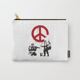 CND soldiers 2005 - Banksy Graffiti Carry-All Pouch