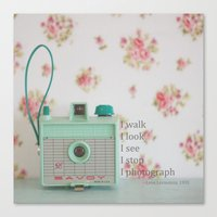 photographer Canvas Prints featuring Photographer by Butterfly Photography