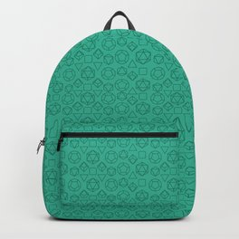 Green dice pattern Backpack