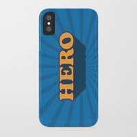 hero iPhone & iPod Cases featuring Hero by Word Quirk