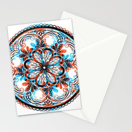 Talavera Overprint Mexican Pottery Design Stationery Cards