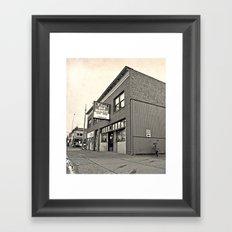 Neighborhood pub Framed Art Print