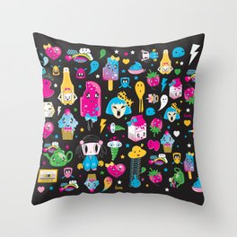 my kawaii world Throw Pillow