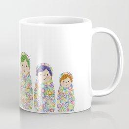 Rainbow Matryoshka Nesting Dolls Coffee Mug