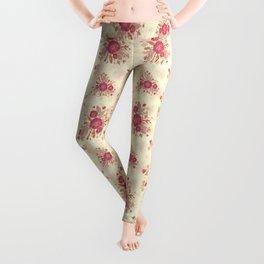 Roses Pink n Cream Leggings