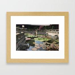 Temple waters  Framed Art Print