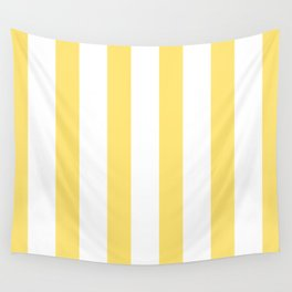 Yellow Striped Pinstripes Pattern Wall Tapestry