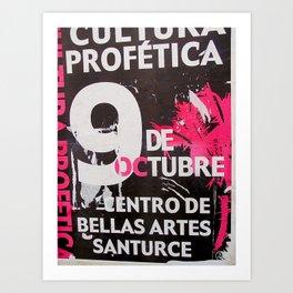 9 DE OCTUBRE Art Print