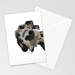 Great Dane dog in your face Stationery Cards