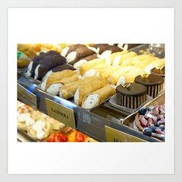 An Italian Dessert Feast Art Print