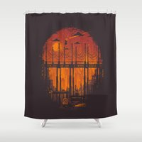 hunter Shower Curtains featuring The Star Hunter by Robson Borges