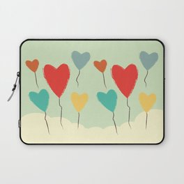 Heart Balloons above the Clouds Laptop Sleeve