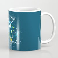 suit Mugs featuring space suit by Jonah Makes Artstuff