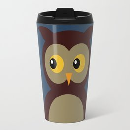 Brown Owl Moon Travel Mug