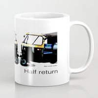 return Mugs featuring Half Return by The Real Veda
