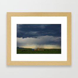 Stormy skies, Montana Framed Art Print