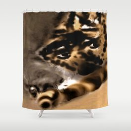 Fault in the mist Shower Curtain