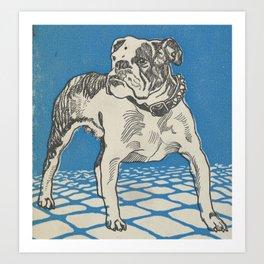 Vintage American Bulldog Illustration (1912) Art Print