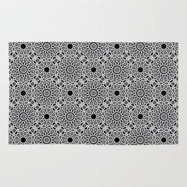 black and white Moroccan tiles Rug