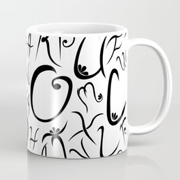 Elvish-Inspired Type Design Coffee Mug