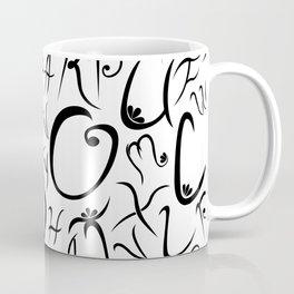 Elvish-Inspired Type Design Coffee Mug