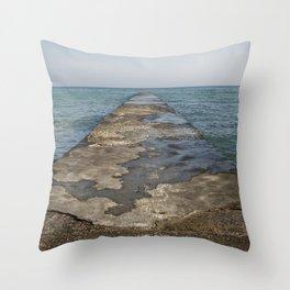 the sea Throw Pillow