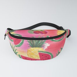 Watercolor Fruit Pineapple Watermelon Pear Cherry Fanny Pack