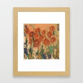 Sunny meadow Framed Art Print