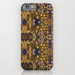 Indian Summer, Bohemian Arabesque Pattern, Golden Yellow iPhone Case