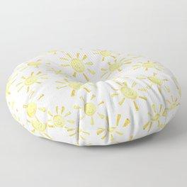 Happy Sunshine Print Floor Pillow