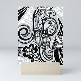 Polynesian FLORAL Tribal Threads Mini Art Print