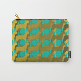 """""""Dog Eat Dog Pattern"""" Carry-All Pouch"""
