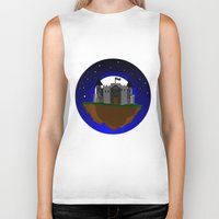 castle in the sky Biker Tanks featuring Castle in the Sky by AjDreamCraft