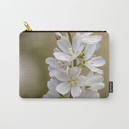 Wild Hyacinth in White and Pink Carry-All Pouch