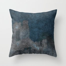 stained fantasy civilization Throw Pillow