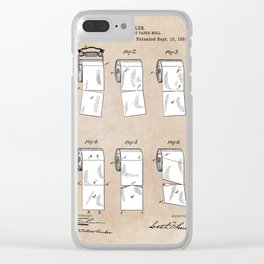 patent - Wheeler - Wrapping or Toilet paper roll - 1891 Clear iPhone Case
