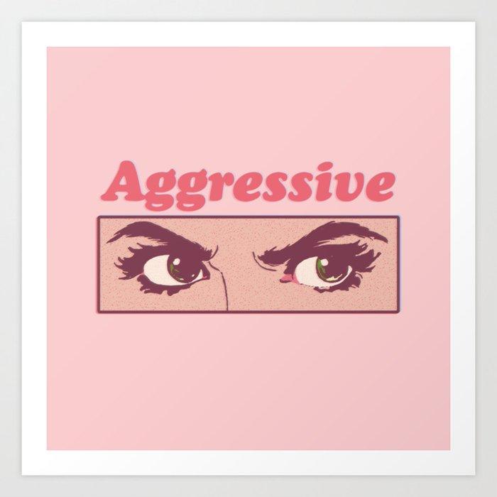 Aggressive Kunstdrucke