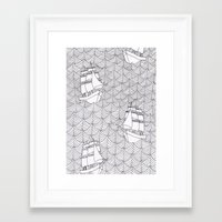 ships Framed Art Prints featuring Ships by hellotomato