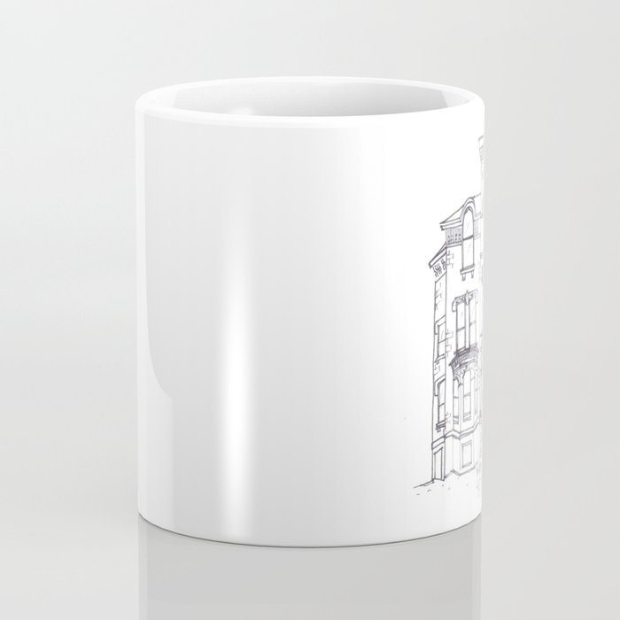 Historic House Line Drawing Coffee Mug