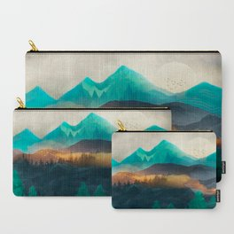 Green Wild Mountainside Carry-All Pouch
