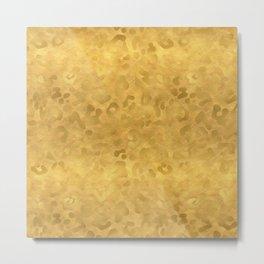 Gold Glam Leopard Print Metal Print