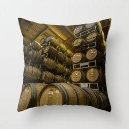 Winery Barrels Throw Pillow