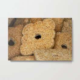 Homemade biscuits in aluminum paper bag, food photography Metal Print