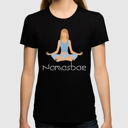 Funny Women's Yoga Shirt - NamasBae T-shirt