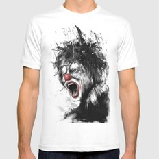 The clown Mens Fitted Tee X-LARGE White