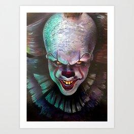 Clown it smile Art Print