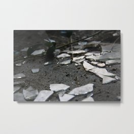 Shattered Glass Metal Print