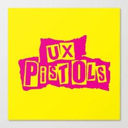 UX Pistols (pink) Canvas Print