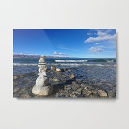 Heavenly Lake Namtso Tibet Metal Print
