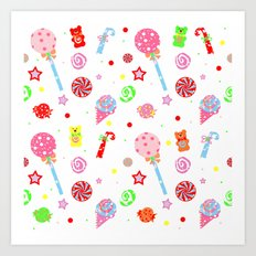 Kid in a Candy Shop Art Print